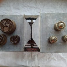 Antigüedades: BALANZA PLEGABLE (PATENTADA) FUERZA 50KG. Lote 110372047