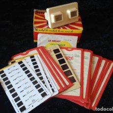 Antigüedades: STEREOSCOPE LESTRADE + 20 FOTOS - SIMPLEX. Lote 110381183