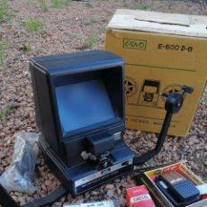 Antigüedades: VISIONADORA DE SUPER 8 MARCA ERNO MAGNON DS-500- DELUXE DUAL 8 EDITOR VIEWER -CON ACCESORIOS Y CAJA. Lote 110396503
