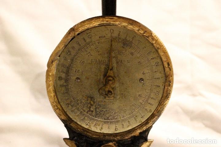 Antiquitäten: balanza de cocina sobre 1920 inglesa marca salters - Foto 4 - 110409323