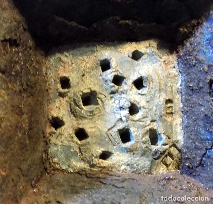 Antigüedades: LOTE DE SEIS PESAS O PONDERALES OCTOGONALES. CON MARCAS. VER FOTOS - Foto 3 - 110538355