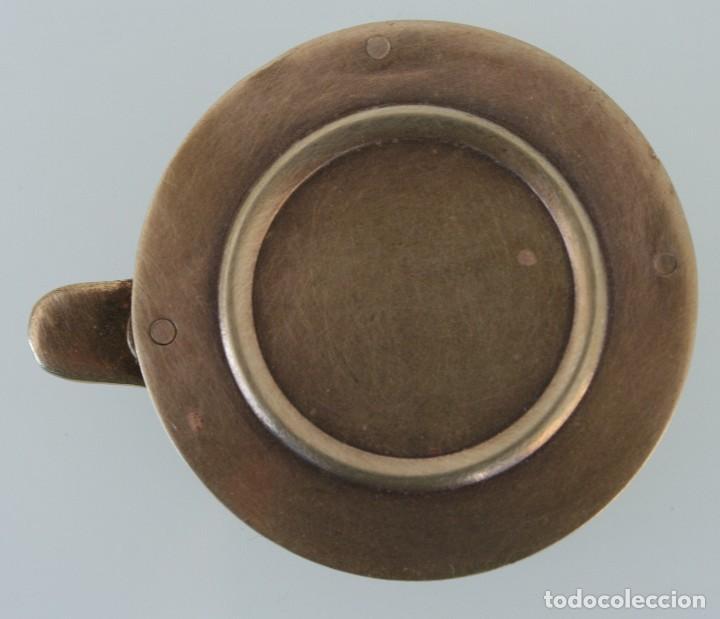 Antigüedades: CURIOSA RARA PIEZA DE COLECCIÓN: ANTIGUA LUPA INGLESA ABATIBLE DE BRONCE DE SOBREMESA O BOLSILLO - Foto 2 - 110634031