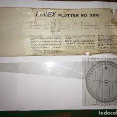 Antigüedades: REGLA LINEX PLOTTER DE NAVEGACION. Lote 110787167