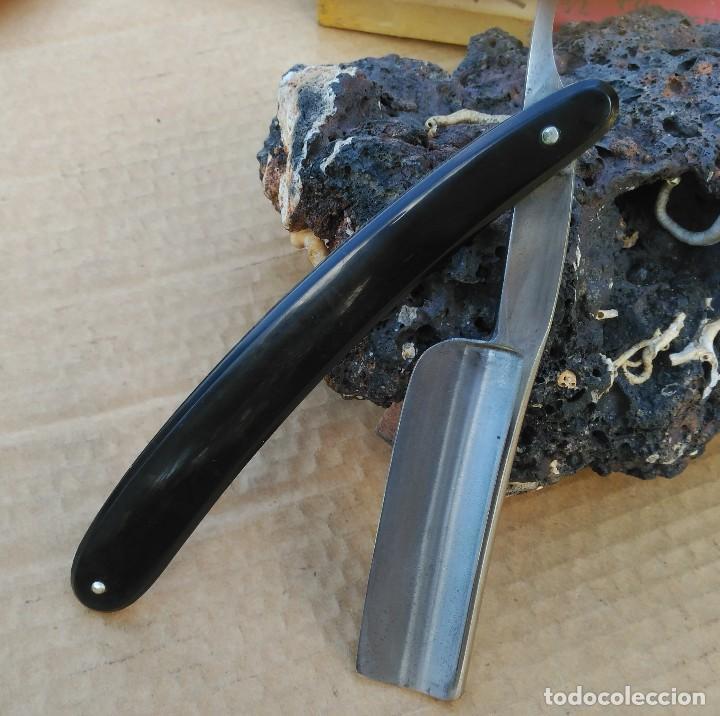 Antigüedades: Navaja afeitar o barbero MEDALLON TAURINO (COGIDA) FILARMONICA con caja ORIGINAL y Hoja 24mm - Foto 8 - 110815443