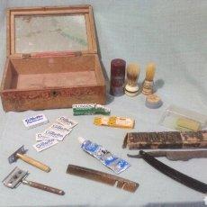 Antigüedades: ANTIGUO LOTE DE BARBERIA. Lote 110906922