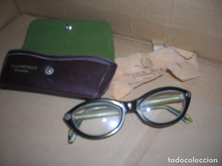 ANTIGUAS GAFAS GRADUADAS INDO FRAME SPAIN. MODELO GIRALDINA. OPTICA MURILLO, REQUENA. (Antigüedades - Técnicas - Instrumentos Ópticos - Gafas Antiguas)