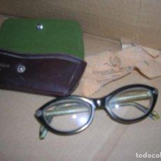Antigüedades: ANTIGUAS GAFAS GRADUADAS INDO FRAME SPAIN. MODELO GIRALDINA. OPTICA MURILLO, REQUENA.. Lote 110927231