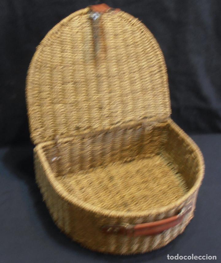 CESTA ANTIGUA, RUSTICA (Antigüedades - Técnicas - Varios)