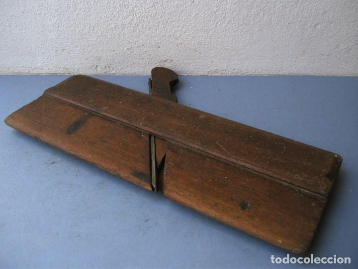 Antigüedades: cepillo de moldura con corte convexo de 6mm aprox (24cm aprox) - Foto 3 - 136141116
