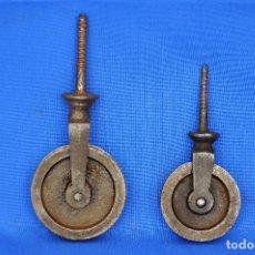 Antigüedades: POLEAS O GARRUCHAS PEQUEÑAS.. Lote 111291743