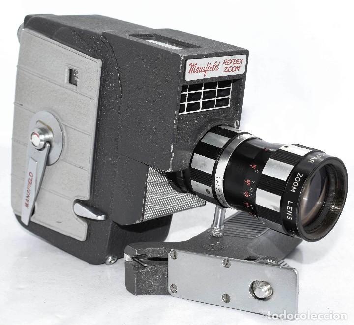 Antigüedades: EXCELENTE Y RARA CAMARA DE CINE A CUERDA..8mm..MANSFIELD REFLEX ZOOM..1960..MUY BUEN ESTADO.FUNCIONA - Foto 3 - 111327295