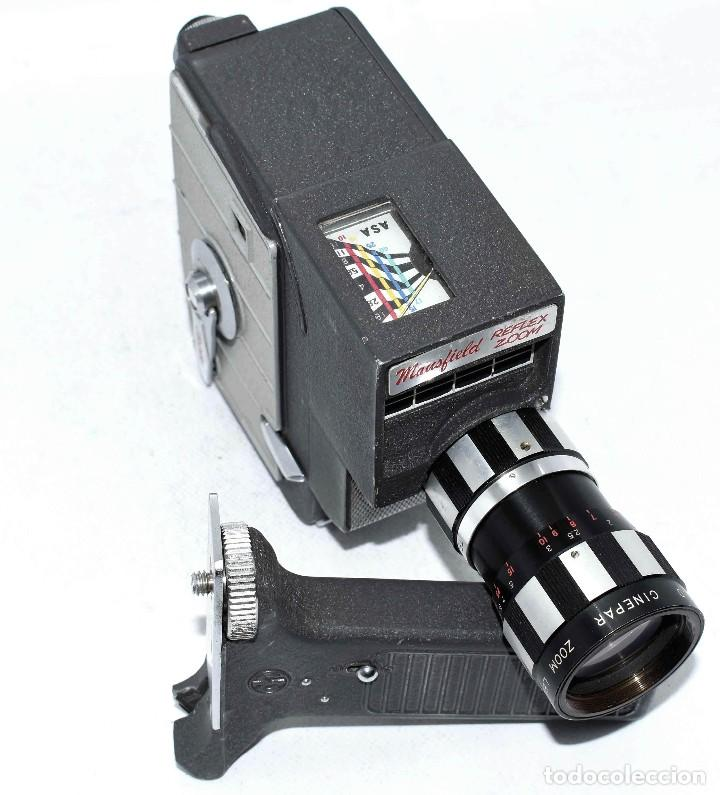 Antigüedades: EXCELENTE Y RARA CAMARA DE CINE A CUERDA..8mm..MANSFIELD REFLEX ZOOM..1960..MUY BUEN ESTADO.FUNCIONA - Foto 4 - 111327295