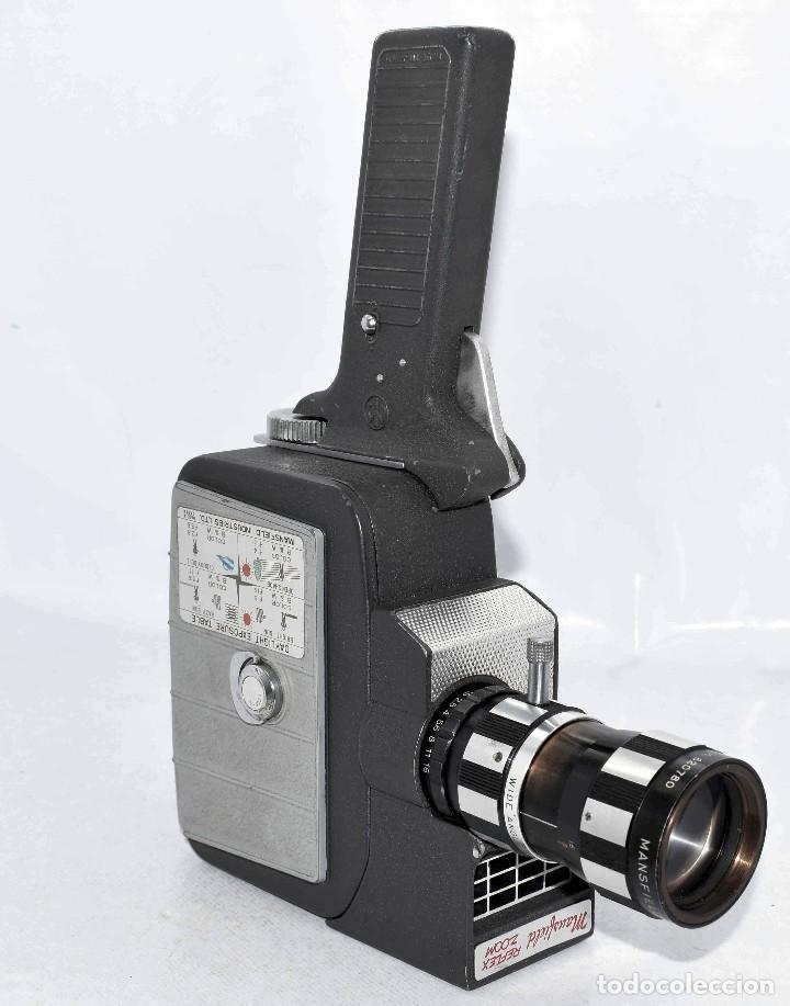 Antigüedades: EXCELENTE Y RARA CAMARA DE CINE A CUERDA..8mm..MANSFIELD REFLEX ZOOM..1960..MUY BUEN ESTADO.FUNCIONA - Foto 6 - 111327295