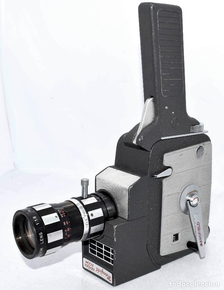 Antigüedades: EXCELENTE Y RARA CAMARA DE CINE A CUERDA..8mm..MANSFIELD REFLEX ZOOM..1960..MUY BUEN ESTADO.FUNCIONA - Foto 7 - 111327295