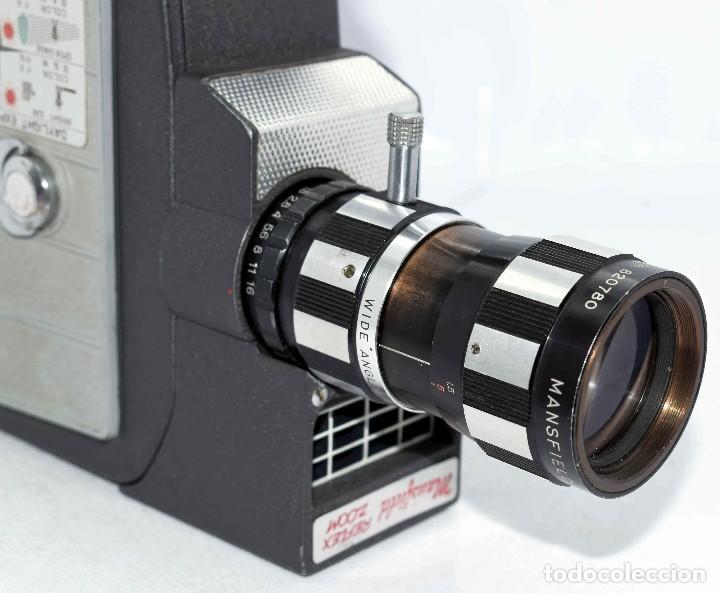 Antigüedades: EXCELENTE Y RARA CAMARA DE CINE A CUERDA..8mm..MANSFIELD REFLEX ZOOM..1960..MUY BUEN ESTADO.FUNCIONA - Foto 10 - 111327295