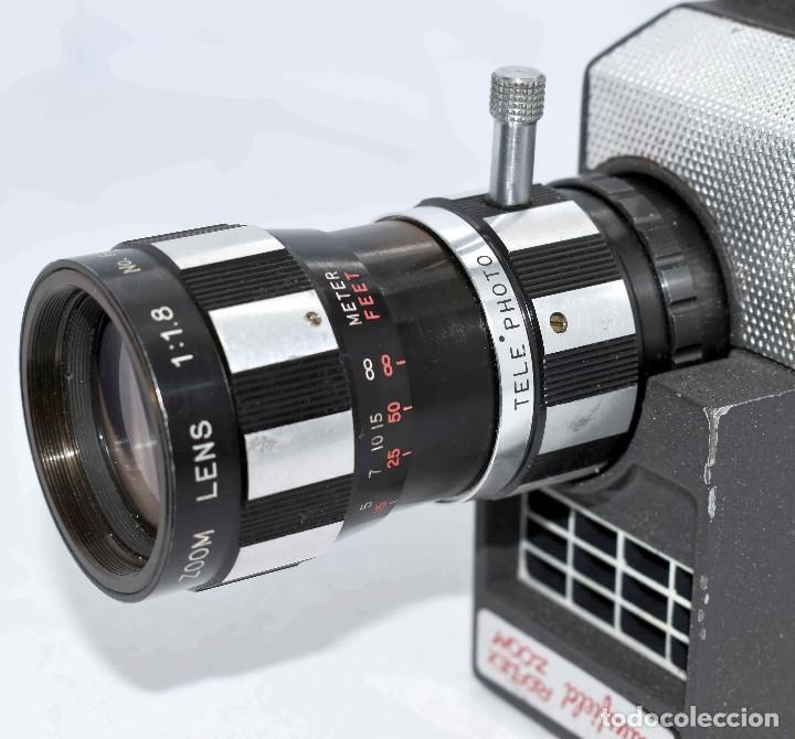 Antigüedades: EXCELENTE Y RARA CAMARA DE CINE A CUERDA..8mm..MANSFIELD REFLEX ZOOM..1960..MUY BUEN ESTADO.FUNCIONA - Foto 11 - 111327295