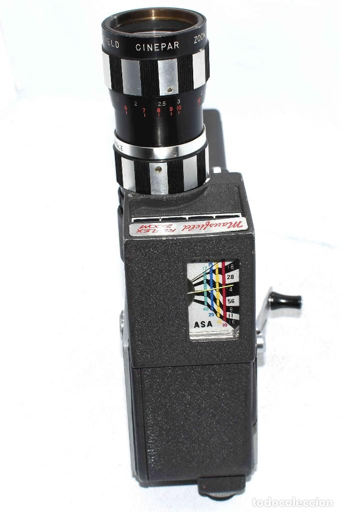 Antigüedades: EXCELENTE Y RARA CAMARA DE CINE A CUERDA..8mm..MANSFIELD REFLEX ZOOM..1960..MUY BUEN ESTADO.FUNCIONA - Foto 12 - 111327295