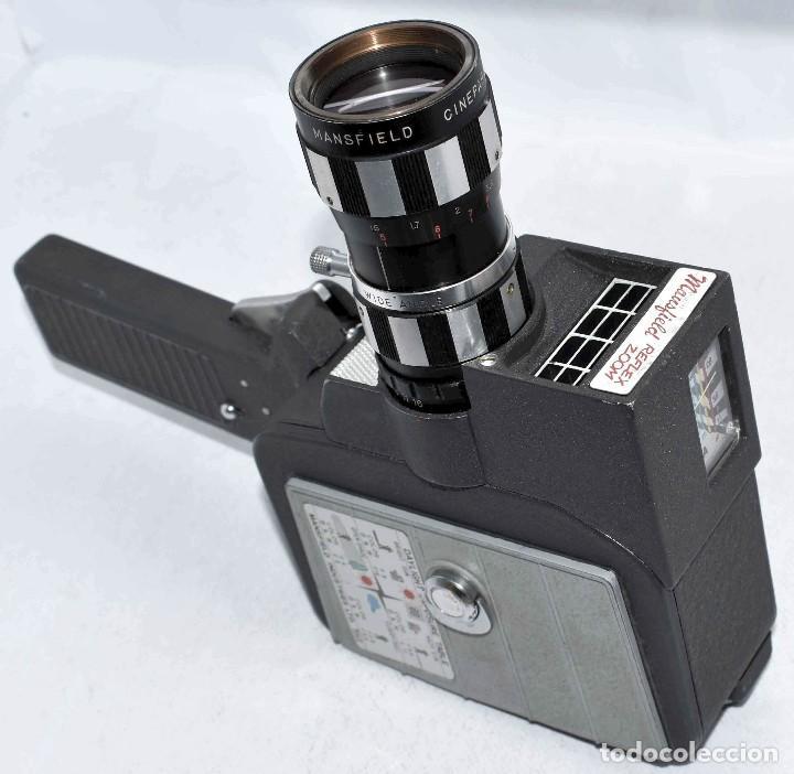 Antigüedades: EXCELENTE Y RARA CAMARA DE CINE A CUERDA..8mm..MANSFIELD REFLEX ZOOM..1960..MUY BUEN ESTADO.FUNCIONA - Foto 15 - 111327295
