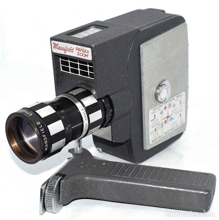 Antigüedades: EXCELENTE Y RARA CAMARA DE CINE A CUERDA..8mm..MANSFIELD REFLEX ZOOM..1960..MUY BUEN ESTADO.FUNCIONA - Foto 18 - 111327295