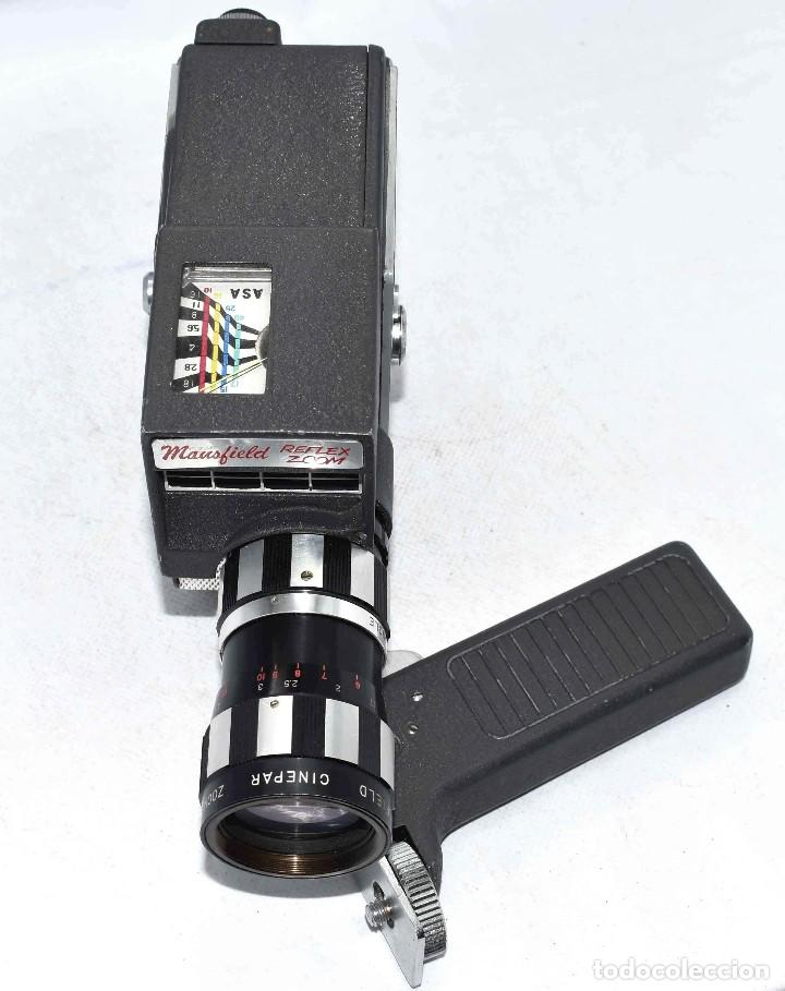 Antigüedades: EXCELENTE Y RARA CAMARA DE CINE A CUERDA..8mm..MANSFIELD REFLEX ZOOM..1960..MUY BUEN ESTADO.FUNCIONA - Foto 19 - 111327295