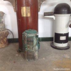 Antigüedades: FAROL DE BRONCE DOBLE BARCO. Lote 111332283