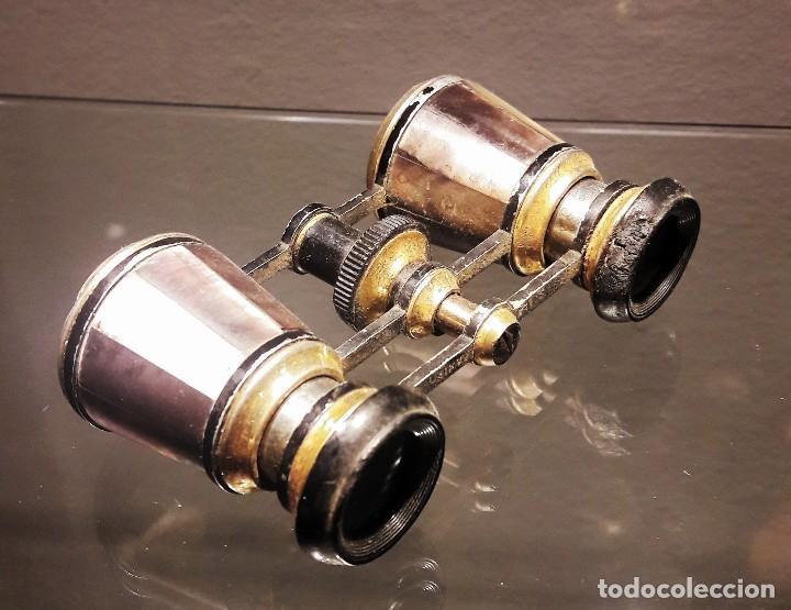 PRISMÁTICOS DE ÓPERA DE NÁCAR. SIGLO XIX (Antigüedades - Técnicas - Instrumentos Ópticos - Prismáticos Antiguos)