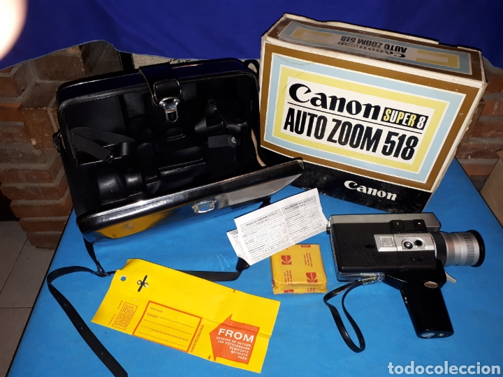 CAMARA VIDEO CANON SUPER 8 AUTO ZOOM 518 (Antigüedades - Técnicas - Aparatos de Cine Antiguo - Cámaras de Super 8 mm Antiguas)