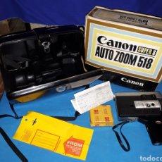 Antigüedades: CAMARA VIDEO CANON SUPER 8 AUTO ZOOM 518. Lote 246948975