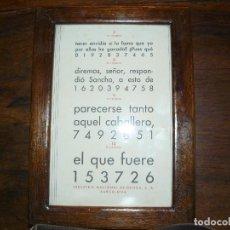 Antigüedades: ANTIGUA TABLA OPTOMÉTRICA - I.N.D.O.- INDUSTRIA NACIONAL DE ÓPTICA, S.A. BARCELONA. Lote 111591455