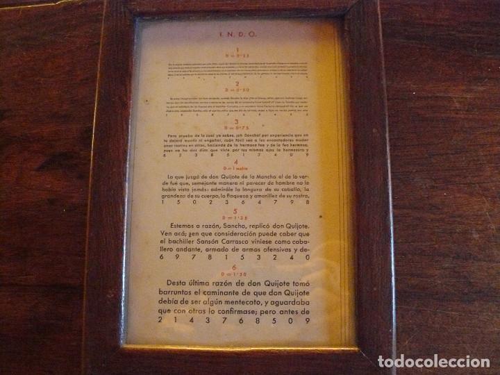 Antigüedades: ANTIGUA TABLA OPTOMÉTRICA - I.N.D.O.- INDUSTRIA NACIONAL DE ÓPTICA, S.A. BARCELONA - Foto 4 - 111591455