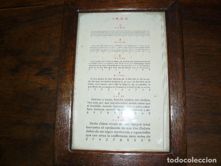 Antigüedades: ANTIGUA TABLA OPTOMÉTRICA - I.N.D.O.- INDUSTRIA NACIONAL DE ÓPTICA, S.A. BARCELONA - Foto 5 - 111591455