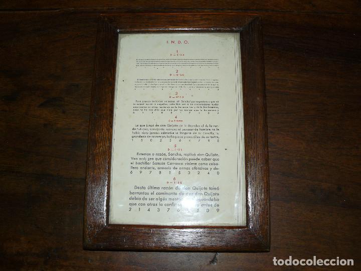 Antigüedades: ANTIGUA TABLA OPTOMÉTRICA - I.N.D.O.- INDUSTRIA NACIONAL DE ÓPTICA, S.A. BARCELONA - Foto 6 - 111591455