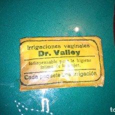 Antigüedades: ANTIGUO SOBRE IRRIGACIONES VAGINALES DR VALLEY. ANTIGUO MEDICINA . Lote 144049808