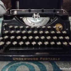 Antigüedades: MAQUINA DE ESCRIBIR UNDERWOOD PORTABLE 1920 MADE IN USA. Lote 111727275
