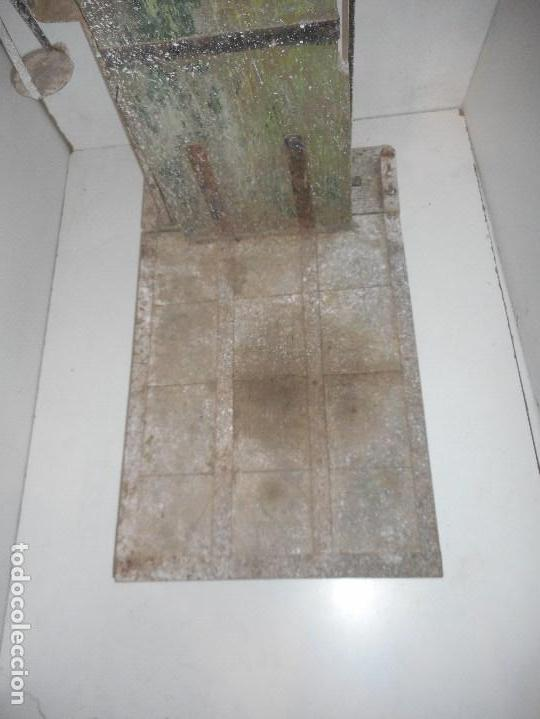 Antigüedades: bascula de madera antigua recogida en provincia barcelona - Foto 3 - 111858431