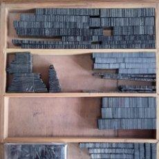 Antiquitäten - CAJA ORLAS Y ADORNOS DE PLOMO IMPRENTA - 111911107