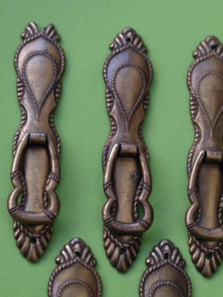 Antigüedades: LOTE 6 TIRADORES (Leed descripción) - Foto 3 - 130275234