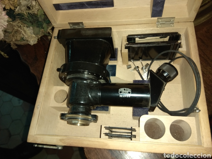 Antigüedades: Cámara para Microscopio Carl Zeiss Jena Nr 2448 - Foto 4 - 112060619