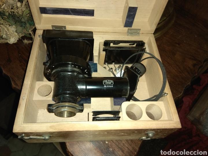 Antigüedades: Cámara para Microscopio Carl Zeiss Jena Nr 2448 - Foto 6 - 112060619