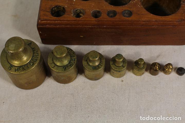 Antigüedades: juego de 8 pesas - ponderales en bronce pesas en bronce grabadas - Foto 4 - 112188835