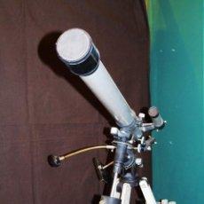 Antigüedades: ANTIGUO TELESCOPIO DE GRAN TAMAÑO 450 POWER 60MM EQUATORIAL REFRACTOR. Lote 112217251