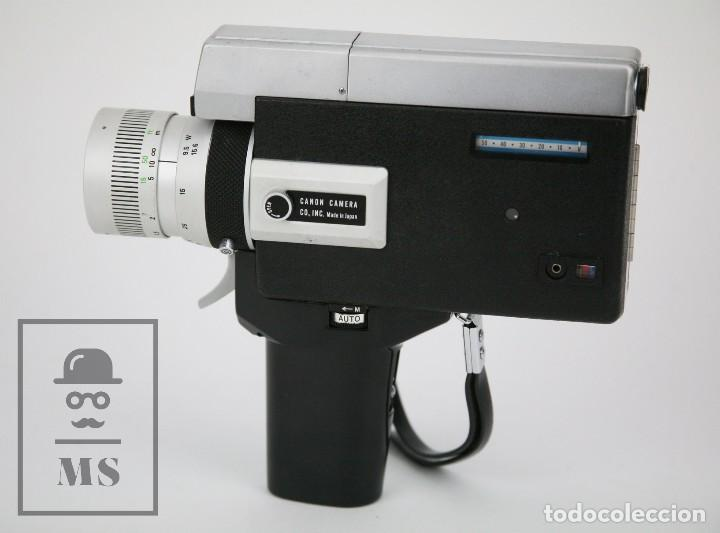 Antigüedades: Cámara Grabación de Super 8 / Tomavistas Canon Autozoom 518 - Funcionando - Funda Original - Foto 2 - 112299163