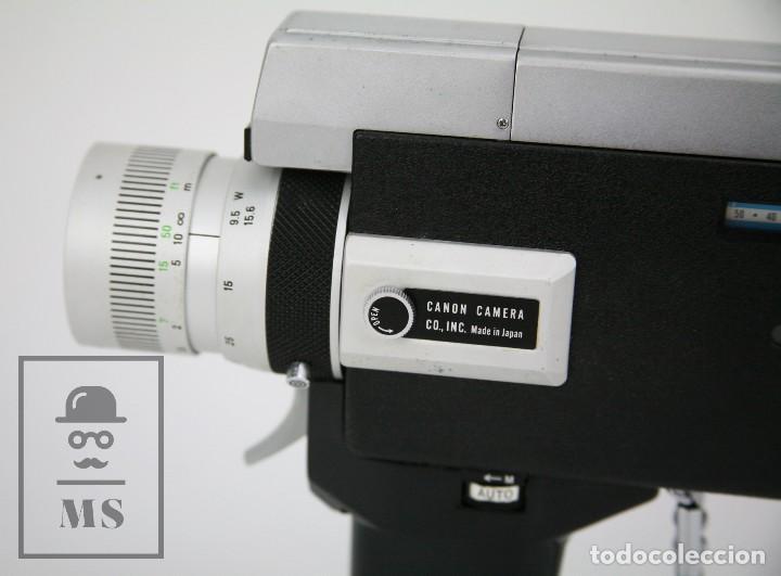 Antigüedades: Cámara Grabación de Super 8 / Tomavistas Canon Autozoom 518 - Funcionando - Funda Original - Foto 3 - 112299163