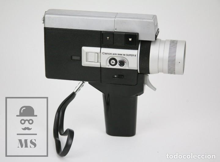 Antigüedades: Cámara Grabación de Super 8 / Tomavistas Canon Autozoom 518 - Funcionando - Funda Original - Foto 6 - 112299163