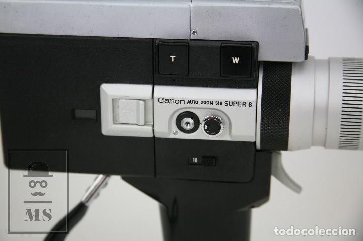 Antigüedades: Cámara Grabación de Super 8 / Tomavistas Canon Autozoom 518 - Funcionando - Funda Original - Foto 7 - 112299163