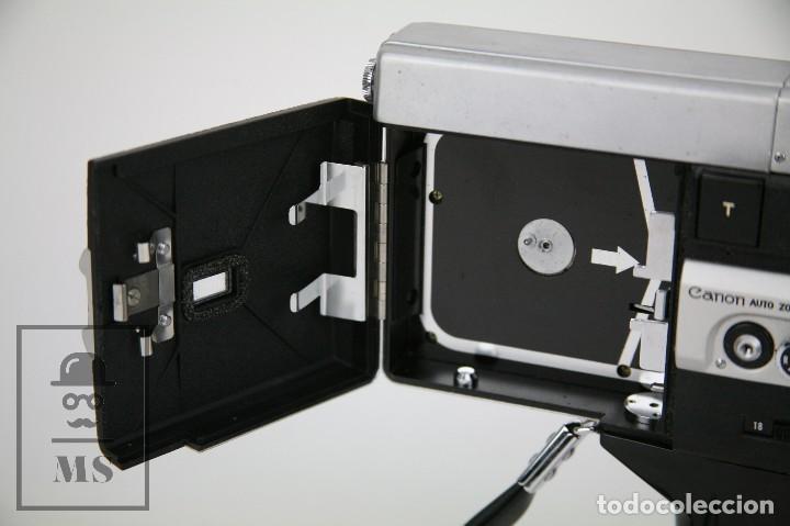 Antigüedades: Cámara Grabación de Super 8 / Tomavistas Canon Autozoom 518 - Funcionando - Funda Original - Foto 8 - 112299163