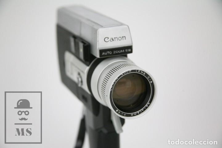 Antigüedades: Cámara Grabación de Super 8 / Tomavistas Canon Autozoom 518 - Funcionando - Funda Original - Foto 9 - 112299163