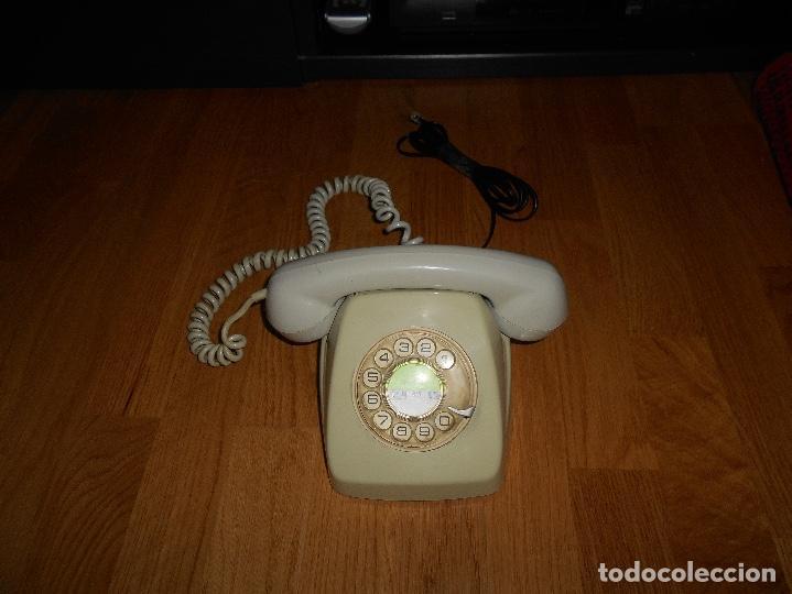 TELEFONO HERALDO CITESA MÁLAGA COLOR GRIS BUEN ESTADO FUNCIONANDO CLAVIJA ADAPTADA AÑOS 70 80 (Antigüedades - Técnicas - Teléfonos Antiguos)