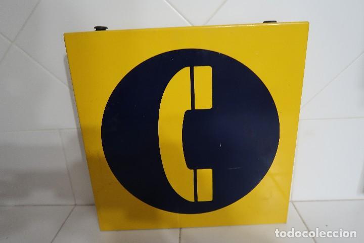 Teléfonos: Cartel metálico de señalización de Teléfono Público - Foto 2 - 112352603