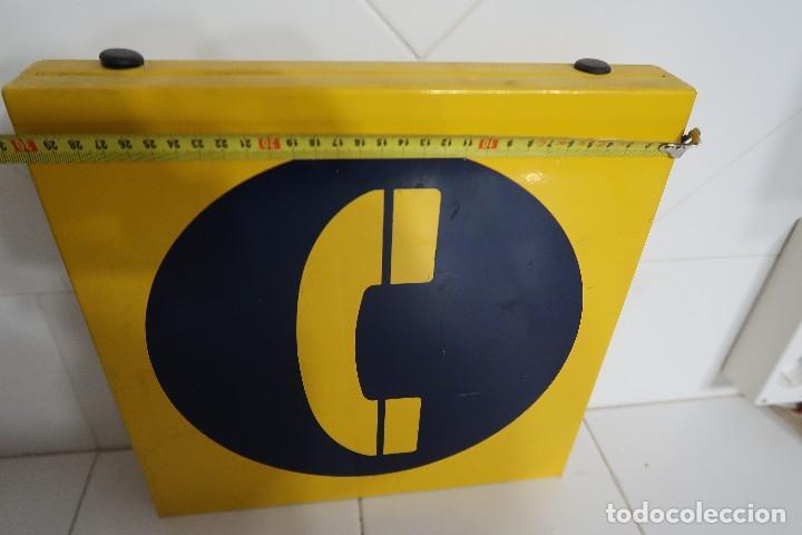 Teléfonos: Cartel metálico de señalización de Teléfono Público - Foto 3 - 112352603